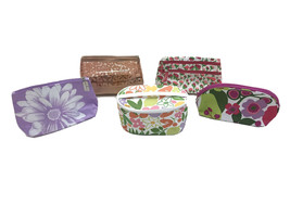 Clinique Cosmetic Makeup Bag Lot Of 5 Assorted Zipper Pouch Carry Case Organizer - $11.88