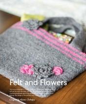 Z514 Crochet PATTERN ONLY Felt and Flowers Felted Purse Handbag Pattern - $7.50