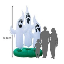 Giant 10 Ft Ghost Trio With Lighted Interior Halloween Inflatable Decor - $135.69