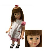 Ideal PATTI PLAY PAL DOLL Vintage 1960s Original Red White Dress Pinafore - $460.35