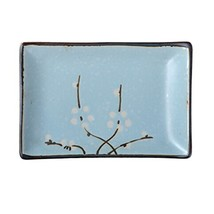 Kylin Express Rectangle Ceramic Dinner Plate Creative Japanese Sushi Plate, K - $23.29