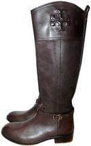 $495 Tory Burch Simone Riding Boots Tall Flat Equestrian Booties 9.5 Bro... - $273.00