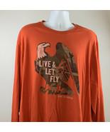 Life is Good Live & Let Fly Camo Eagle Logo Long Sleeve T shirt Mens XXL... - $24.70