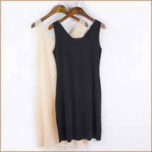 Black or Nude V Neck Soft Chiffon Sheath Mini Length Slip For Transparent Gowns image 4