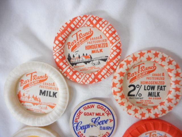 Vintage Milk Dairy Bottle Caps (Set Of 7) Newman Lake Washington Coeur dalene ID