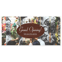 Flowers Shop Grand Opening Business Window Display Retail Large Format Sign - $19.31+