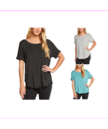 Matty M Ladies Soft French Terry Split Vent Back Short sleeve Scoop neck... - $7.37+