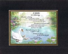 Personalized Touching and Heartfelt Poem for Mothers - A Mother is a Blessing Po - $22.72