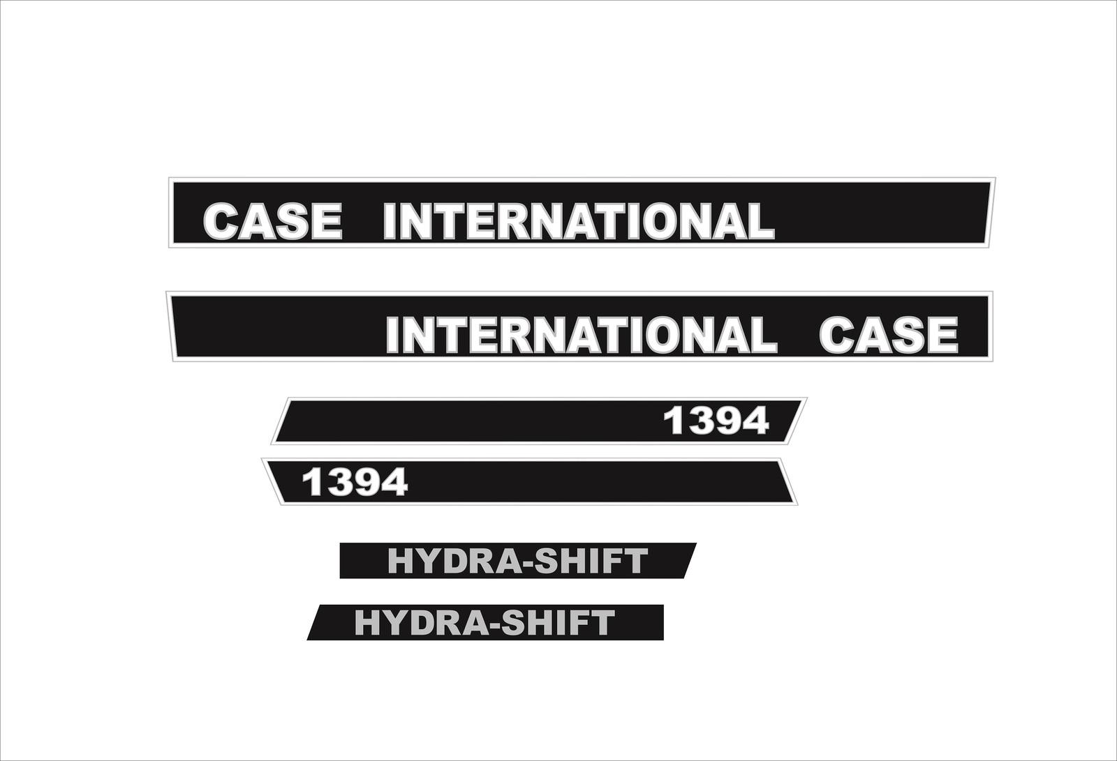 stickers case international 595 decals