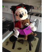 Disney Animated Rockin Santa Mickey Mouse Reads Twas the Night Before Ch... - $129.99