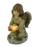 Moonrays Solar LED Fairy Garden Decor In Angel With Glowing Dove Design - $34.60