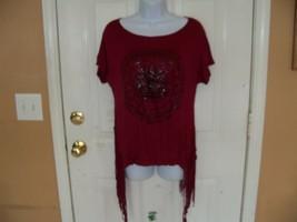 Charlotte Russe Burgandy Code Spellbound Day Shirt Size M Women's NEW LA... - $25.00