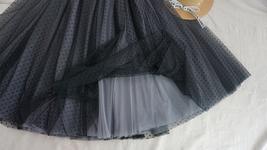 GRAY MIDI Tulle Skirt Women's High Waist Tulle Midi Skirt Bridesmaid Tulle Skirt image 5
