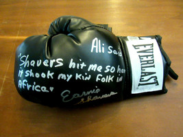 Ernie Shavers Boxing Heavyweight Hof Signed Auto Everlast Boxing Glove PSA/DNA - $197.99