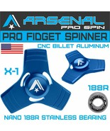 No.1 Pro Series Blue Fidget Spinner Ultra Durable Stainless Steel 188R B... - $8.86