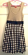 Ruby Rox  Sz S Grey and Black White Plaid Dress Tank Top Lined Bubble Skirt - €13,65 EUR