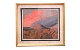 Beautiful Handmade Home & Office Dcor Wall Hanging Nature Scenery Oil Pa... - $142.00