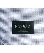 Ralph Lauren Navy Mini Dots on White Cotton Sheet Set Full - $74.00