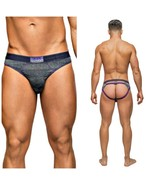 MALE POWER HEATHER HAZE CUT OUT MENS JOCK STRAP L/XL - $19.99