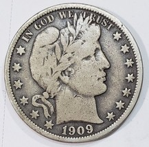 1909O Liberty Barber Head Half Dollar 50¢ Silver Coin Lot MZ 4848