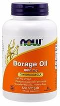 Now Foods: Borage Oil Highest GLA Concentration 1000 mg, 120 sgels - $31.69