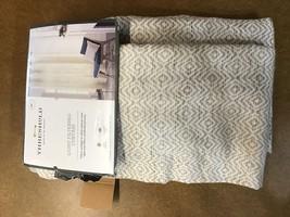 95x54 Diamond Weave Window Curtain Panel Tan - Threshold™ - $18.75