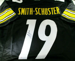JUJU SMITH-SCHUSTER / AUTOGRAPHED PITTSBURGH STEELERS BLACK CUSTOM JERSEY / COA