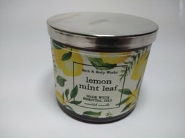 Bath & Body Works Lemon Mint Leaf Large 3-Wick Scented Candle 14.5 oz - $34.99