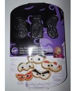 Wilton Easy Decorate Cookie Pan 6 Cavities & Designs Sm Eyes Nonstick Ha... - $6.89