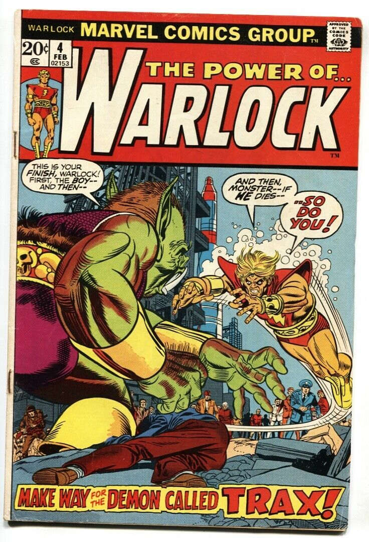 WARLOCK #4 1972-Marvel-Death of Triax the Terrible - comic book