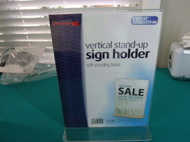 """Officemate Plastic Upright Vertical Sign Holders, 8 1/2"""" x 11"""", Clear, P... - $39.60"""