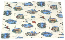 ROUTE 66 Dan River Pillowcase Standard Size Off White with Cities Roads ... - $9.49