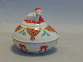 1994 The Lenox Christmas Surprise Collector Egg Covered Trinket Box - $11.88