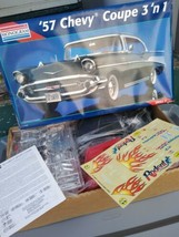 Brand New Monogram 57 Chevy Coupe 3 in 1 Plastic Model Kit 1995 1:12 Scale - $99.00