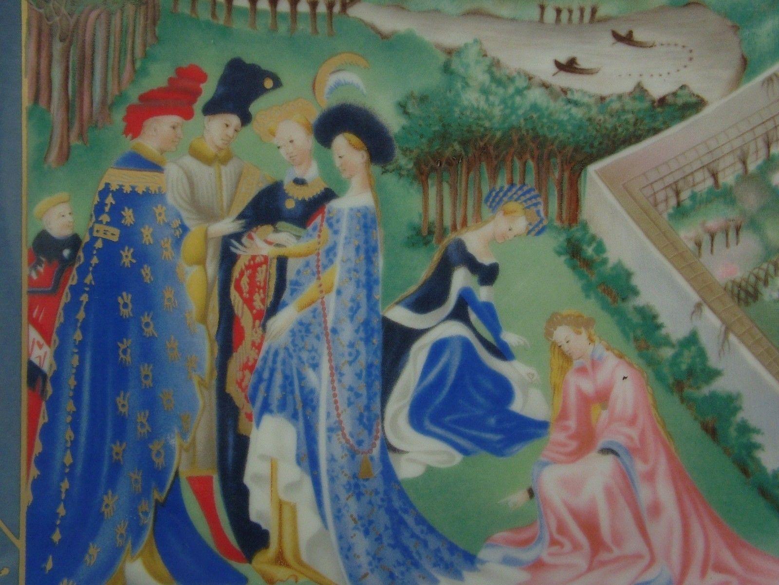 Limoges April Very Rich Hours Jean Duc de Berry Jean Dutheil Limoges Avril