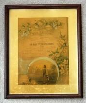 1907 antique WILLIAM STAHL/CAROLINA SCHIESS WEDDING CERTIFICATE philadel... - $67.95