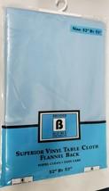 "Superior Tablecloth Vinyl Flannel Back, 52"" x 52"" (4 ppl) Square, LIGHT ... - $15.83"