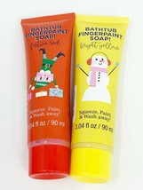 Lot of 2 Bathtub Finger Paint Soap, Red & Yellow, Christmas Holiday Edit... - $6.76