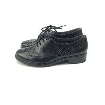 Aerosoles Distinguished black leather wing top oxford shoes 7.5 - $29.69