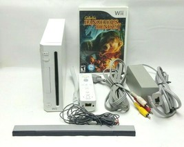 Nintendo Wii RVL-001 Video Game Console Complete White Cables plus 1 CD ... - $52.96