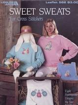 Sweet Sweats 8 Waste Canvas Bunny Designs LA562 Cross Stitch Pattern Lea... - $1.14