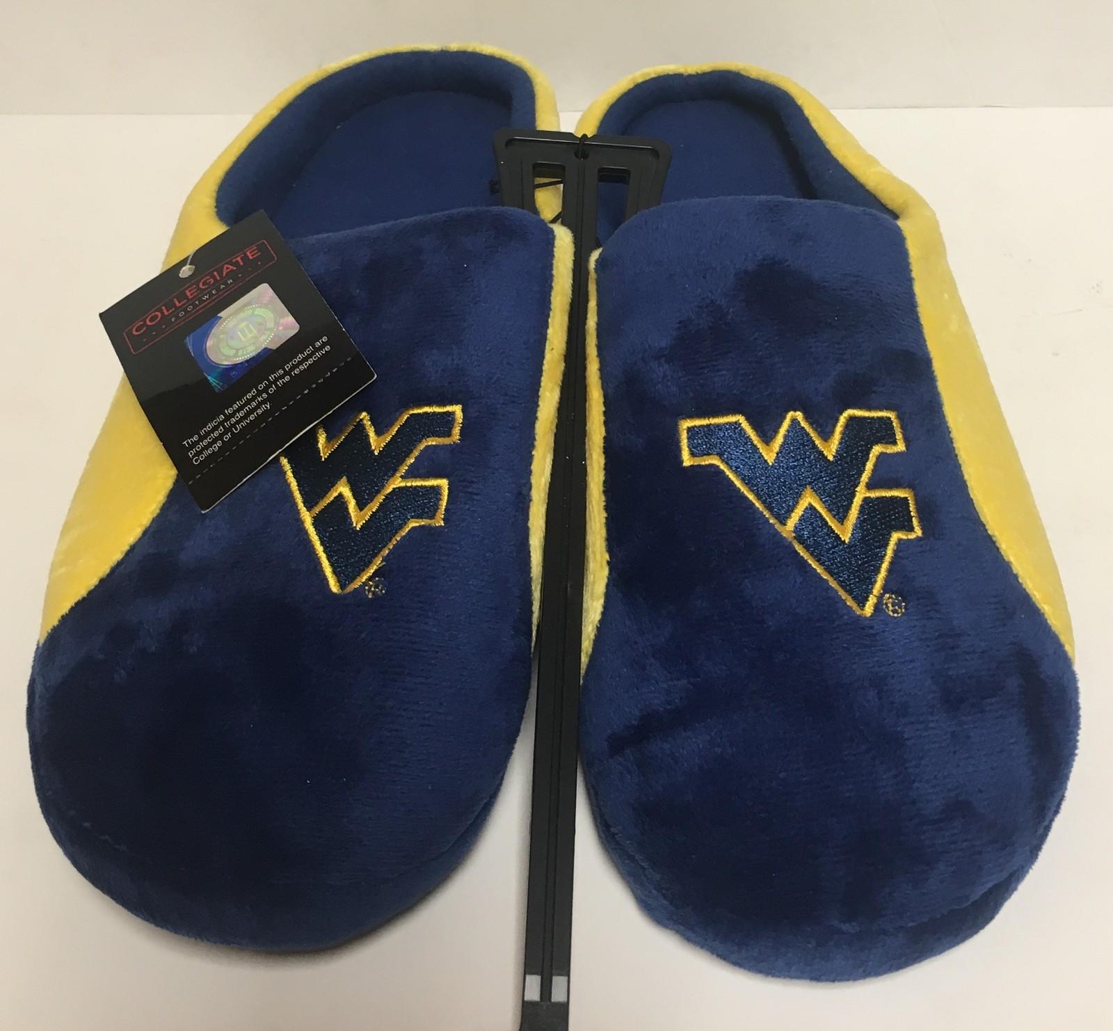 West Virginia Men's Cushion Memory Soles Slippers Shoe Sz L (11-12) image 2