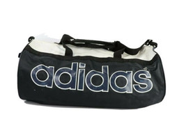 Vintage 90s Adidas Streetwear Spell Out Distressed Duffel Bag Carry On G... - $29.65