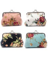 Elesa Miracle 4pc Women Girl Canvas Floral Coin Purse Clutch Pouch Walle... - ₹2,175.65 INR
