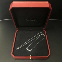 Cartier necklace chain White Gold Diamond Free Shipping 100% Authentic Japan bag - $1,729.32
