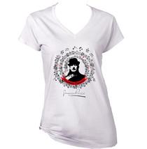 Giacomo Puccini - New White Cotton Lady Tshirt - $25.79