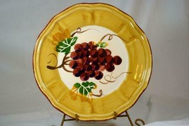 "Tabletops Gallery Italian Grapes 10 7/8"" Dinner Plate - $9.00"