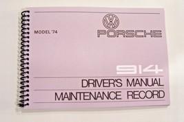 1974 Porsche 914 Owners Manual Service factory reprint maintenance adjus... - $59.39