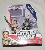 New Star Wars Force Awakens Playskool Galactic Heroes Rey Captain Phasma... - $8.90