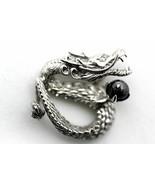 K18WG 18 Dragon diamond pendant dragon pendant 0.01ct necklace top 1.61c... - $964.41
